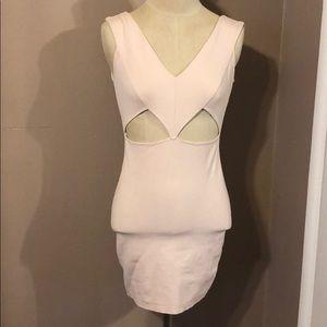 Blush Cutout Mini Dress
